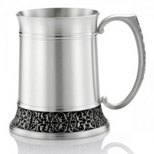 Royal Selangor cast Classic Expression Tankard, Satin Finish (L)